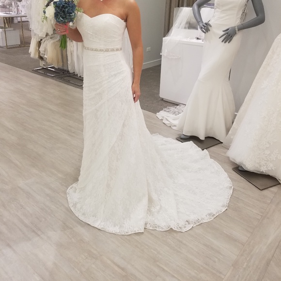 0be9371c7b1f David's Bridal Dresses | Lace Aline Wedding Dress Size 6 | Poshmark